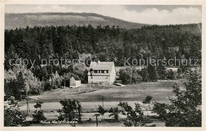AK / Ansichtskarte Schellerhau Haus Waldfrieden Kat. Altenberg