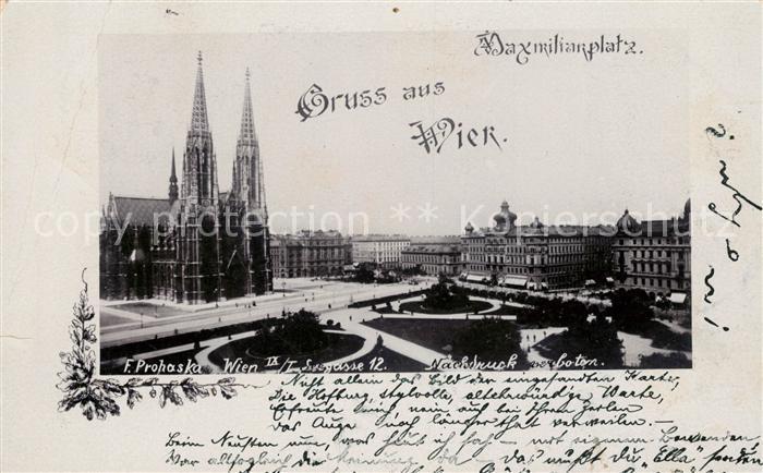 AK / Ansichtskarte Wien Maximilianplatz Kat. Wien