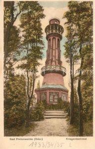 AK / Ansichtskarte Bad Freienwalde Kriegerdenkmal Kat. Bad Freienwalde