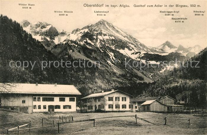 AK / Ansichtskarte Birgsau Gasthof zum Adler Allgaeuer Alpen Kat. Oberstdorf