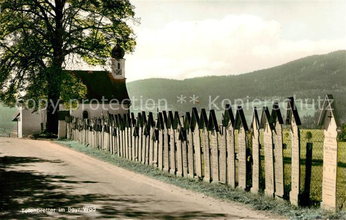 AK / Ansichtskarte Bayerischer Wald Totenbretter