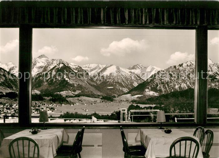 AK / Ansichtskarte Oberstdorf Hotel Panorama Cafe Restaurant Kat. Oberstdorf