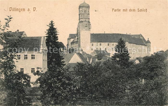 AK / Ansichtskarte Dillingen Donau Partie mit Schloss Kat. Dillingen a.d.Donau