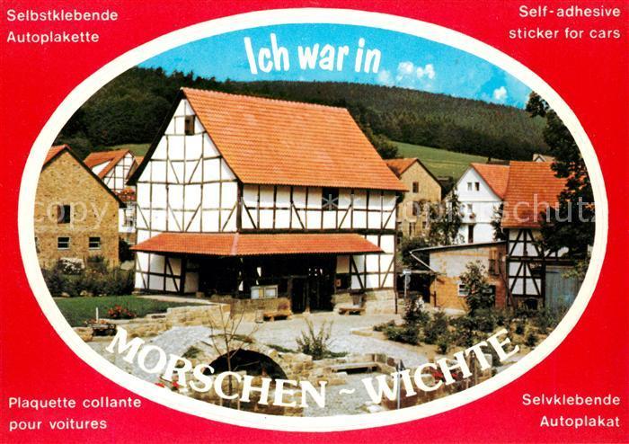 AK / Ansichtskarte Wichte Gasthaus Autoplakette Kat. Morschen