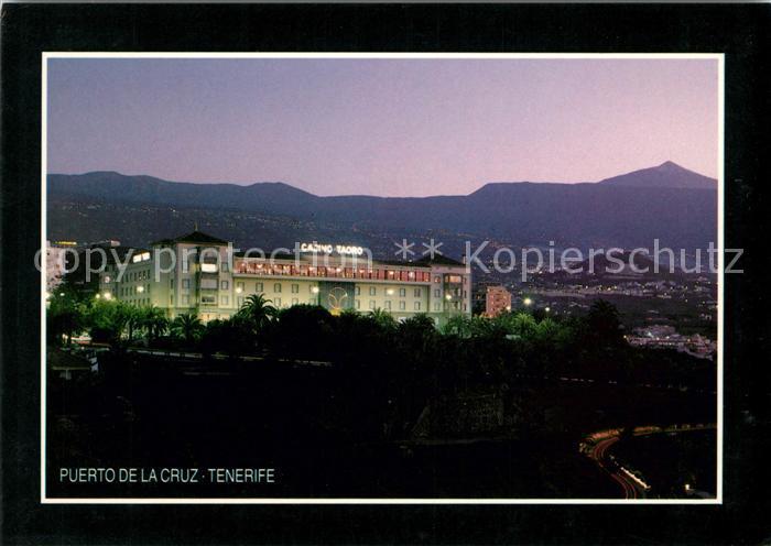 AK / Ansichtskarte Puerto de la Cruz Casino Taoro y El Teide Kat. Puerto de la Cruz Tenerife