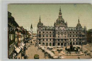 Graz Steiermark Rathaus und Herrengasse Kat. Graz