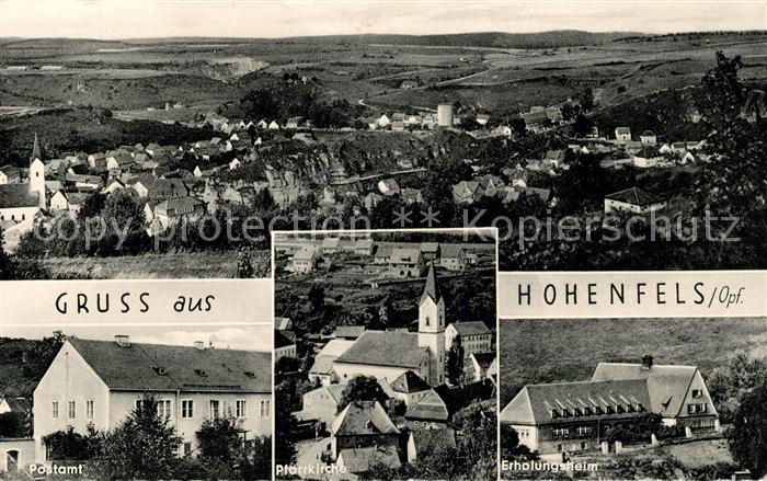 Hohenfels Oberpfalz Panorama Postamt Pfarrkirche Erholungsheim Kat. Hohenfels