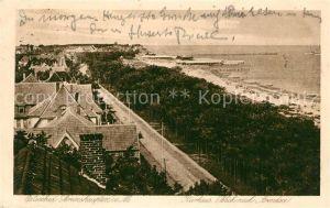 Brunshaupten Ostseebad Kurhaus Strand Promenade Blick nach Arendsee
