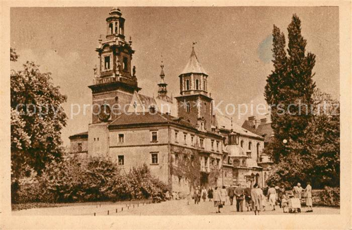 AK / Ansichtskarte Krakow Krakau Kathedrale