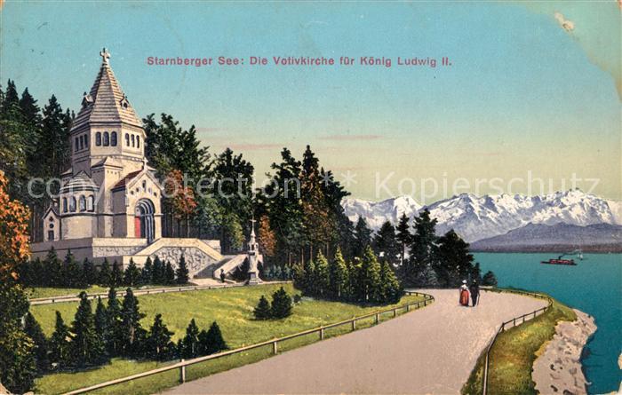 Berg Am Starnberger See ak ansichtskarte berg starnberg votivkirche fuer koenig ludwig ii
