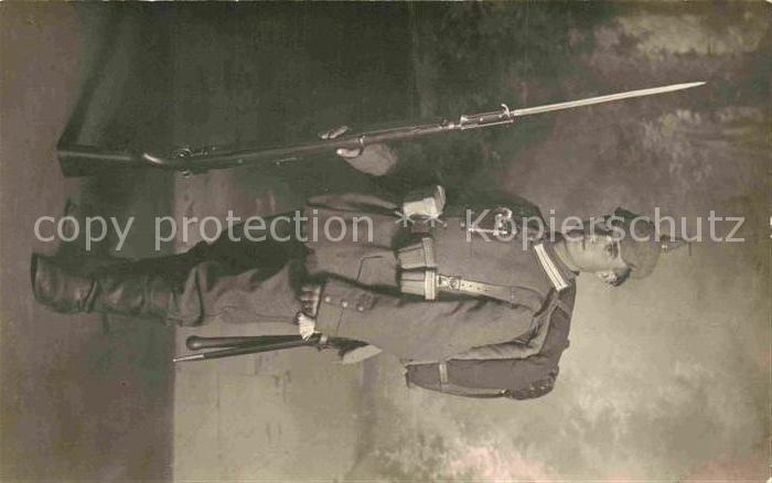 AK / Ansichtskarte Stuttgart Soldate WK1 Wuertembergische Garde Infanterie Bajonnett Kat. Stuttgart