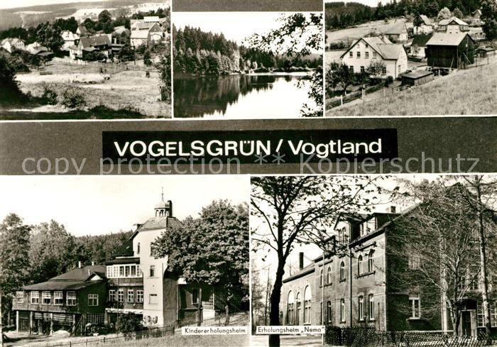 AK / Ansichtskarte Vogelsgruen Panorama Kindererholungsheim Nema Kat. Auerbach