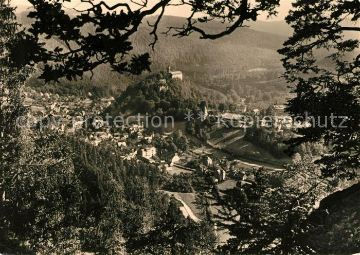 AK / Ansichtskarte Schwarzburg Thueringer Wald Panorama vom Trippstein Kat. Schwarzburg