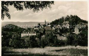 AK / Ansichtskarte Lindenfels Odenwald Panorama mit Burgruine Kat. Lindenfels