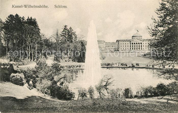 AK / Ansichtskarte Wilhelmshoehe Kassel Schloss Fontaene Kat. Kassel