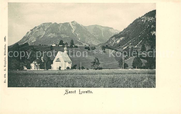 AK / Ansichtskarte Oberstdorf Sanct Loretto Kapellen Allgaeuer Alpen Kat. Oberstdorf