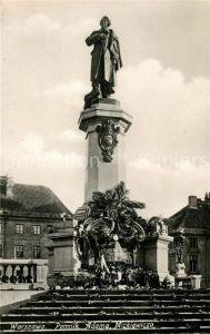 AK / Ansichtskarte Warszawa Pomnik Adama Mickiewicza Nikolaus Kopernikus Denkmal Kat. Warschau Polen