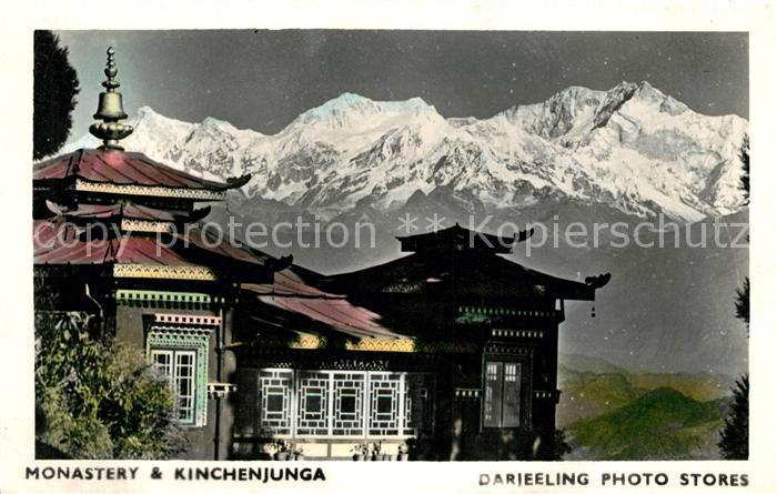 AK / Ansichtskarte Nepal Monastery and Kinchenjunga Himalaya Kat. Nepal