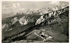 AK / Ansichtskarte Garmisch Partenkirchen Hochalm Blick auf Dreitorspitze Alpenpanorama Fliegeraufnahme Kat. Garmisch Partenkirchen