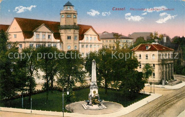 Ak Ansichtskarte Kassel Hessisches Landesmuseum Denkmal Kat