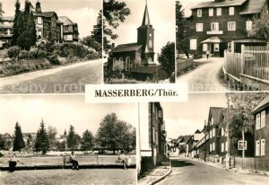 Masserberg Hotel Kurhaus Kirche FDGB Erholungsheim Schoene Aussicht Kurpark Kat. Masserberg