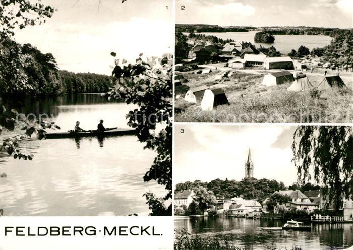 Feldberg Mecklenburg Campingplatz Huettenberg Am Schmalen Luzin Am Haussee Kat. Feldberger Seenlandschaft