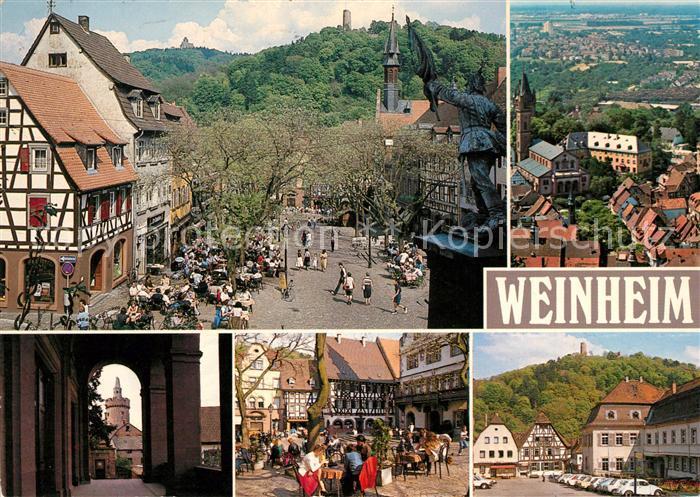 weinheim bergstrasse marktplatz burgruine windeck wachenburg kat weinheim nr kn41306. Black Bedroom Furniture Sets. Home Design Ideas