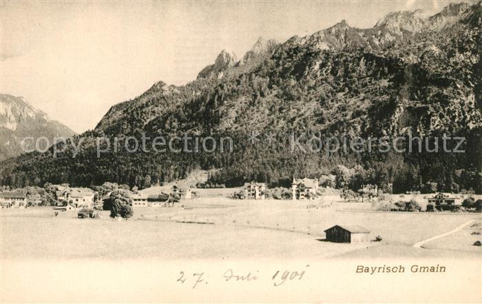 Bayrisch Gmain Tirol Panorama Kat. Oesterreich