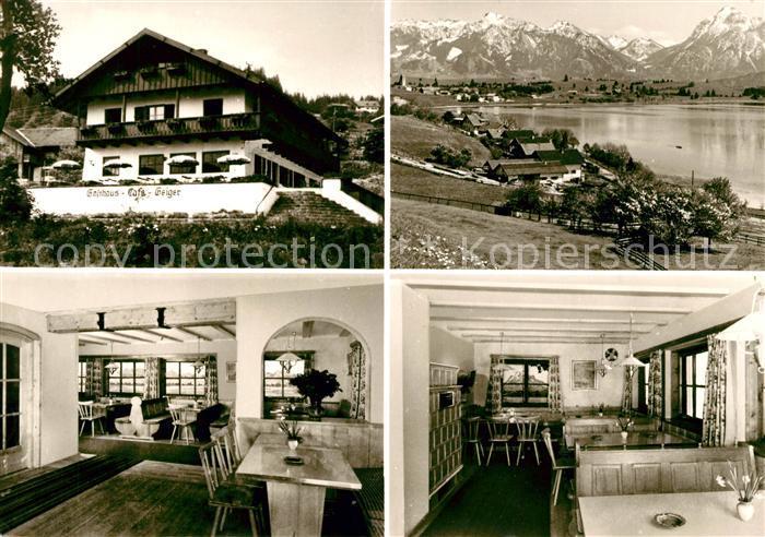 Hopfen See Restaurant Pension Geiger Alpenpanorama Kat. Fuessen