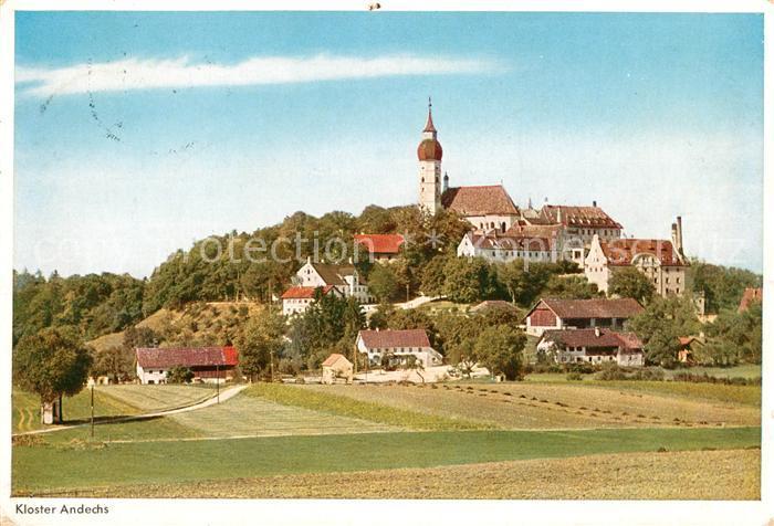 Andechs Ortsansicht mit Kloster Kat. Andechs