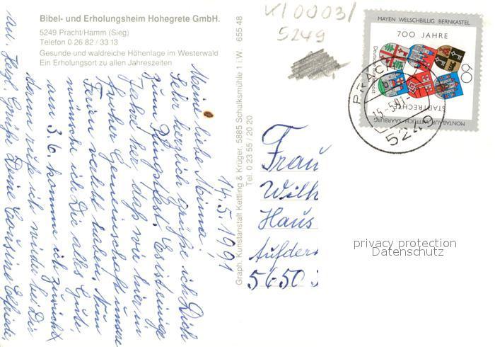 AK / Ansichtskarte Pracht Hamm Bibel  Erholungsheim Hohegrete  Kat. Pracht 1
