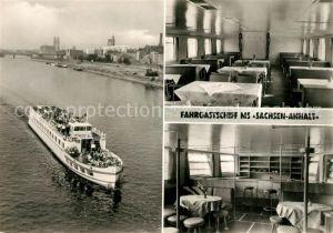 AK / Ansichtskarte Magdeburg MVB Weisse Flotte MS Sachsen Anhalt Kat. Magdeburg