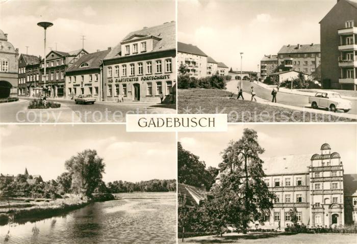 AK / Ansichtskarte Gadebusch Luxemburgstrasse Markt Burgsee Internat Oberschule Kat. Gadebusch