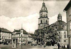 AK / Ansichtskarte Waltershausen Gotha Markt Gotteshilf Kirche Kat. Waltershausen
