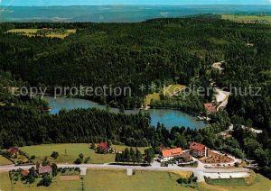 AK / Ansichtskarte Ebnisee Waldhotel am Ebnisee Fliegeraufnahme