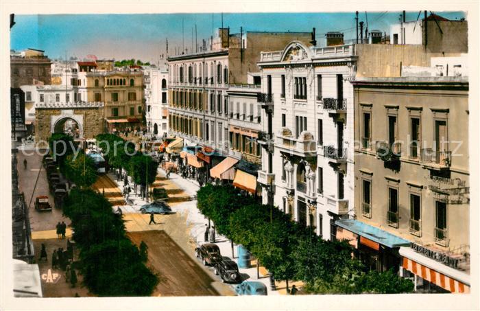 AK / Ansichtskarte Tunis Porte de France et Avenue de France Kat. Tunis