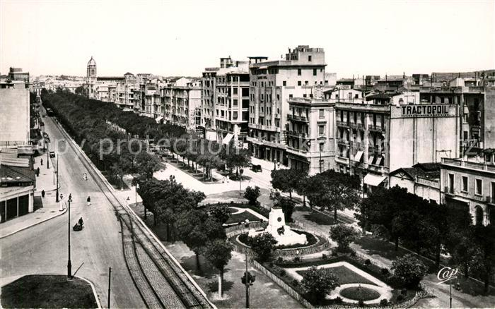 AK / Ansichtskarte Tunis Perspective sur l Avenue Jules Ferry et Avenue de France Kat. Tunis