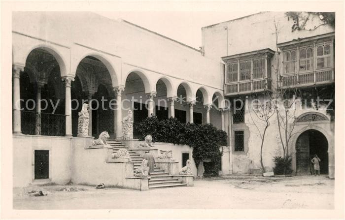 AK / Ansichtskarte Tunis Le Bardo Escalier des Lions du Palais Beylical Kat. Tunis