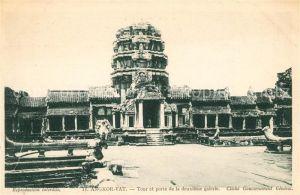 AK / Ansichtskarte Angkor Wat Ruines Temple Tour et porte de la deuxieme galerie