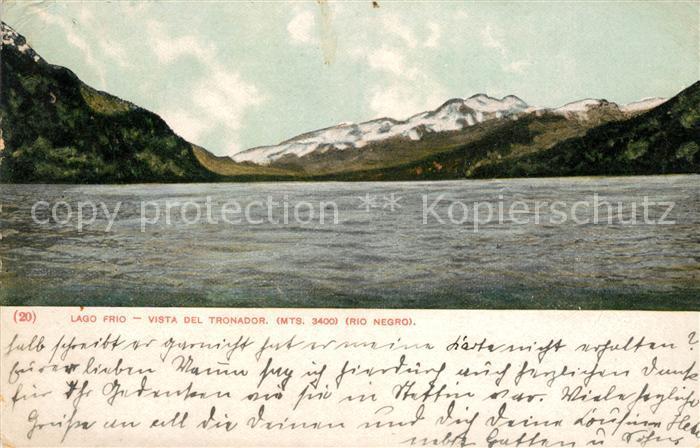 AK / Ansichtskarte Argentinien Lago Frio vista del Tronador Mountains Rio Negro Kat. Argentinien