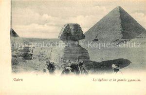 AK / Ansichtskarte Caire Sphinx et la grande pyramide Kat. Cairo Egypt