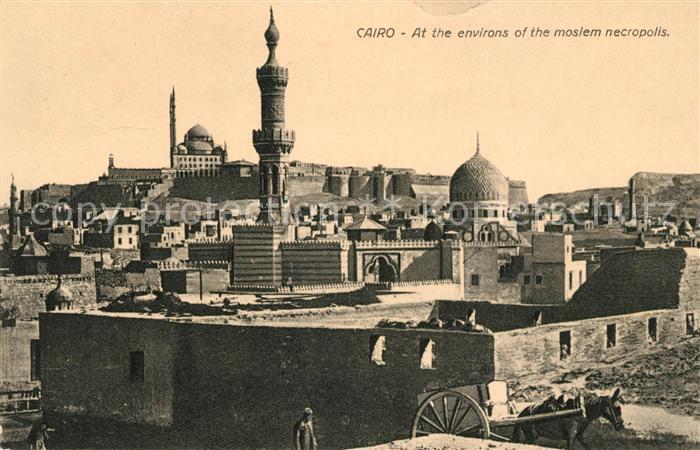 AK / Ansichtskarte Cairo Egypt At the environs of the moslem nectropolis Kat. Cairo
