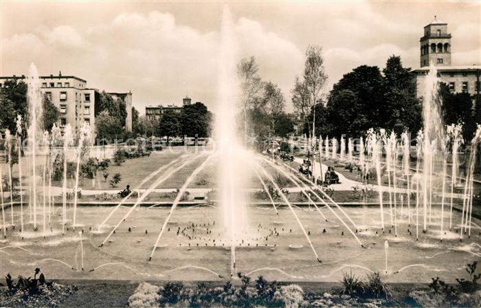 AK / Ansichtskarte Karlsruhe Baden Wasserspiele Festplatz