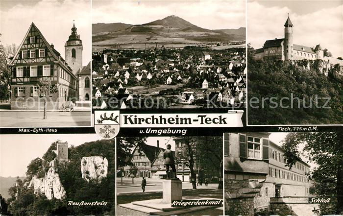AK / Ansichtskarte Kirchheim Teck Teck Schloss Kriegerdenkmal Kat. Kirchheim unter Teck