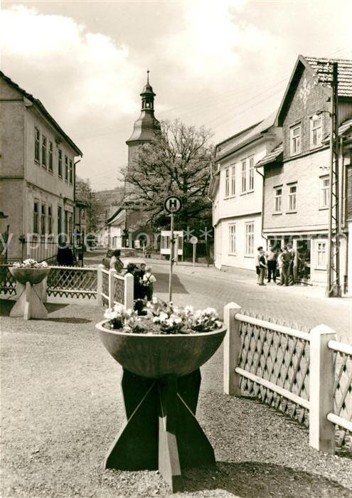 AK / Ansichtskarte Tabarz Rathausstrasse in Cabarz Kat. Tabarz Thueringer Wald