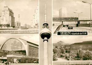 AK / Ansichtskarte Berlin Strausberger Platz Alexanderplatz Autotunnel Bahnhof Fernsehturm Kat. Berlin