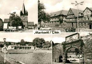 AK / Ansichtskarte Marksuhl Schwimmbad Stadtmauer Stadttor  Kat. Marksuhl