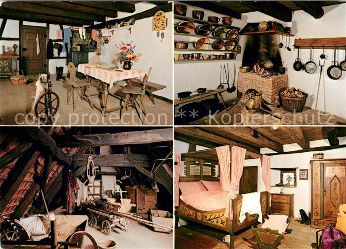 AK / Ansichtskarte Oedenwaldstetten Bauernhausmuseum Stube Kaminecke  Speicher Schlafzimmer Kat. Hohenstein 0
