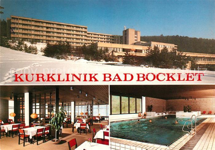AK / Ansichtskarte Bad Bocklet Kurklinik Bad Bocklet Speisesaal Hallenbad Kat. Bad Bocklet