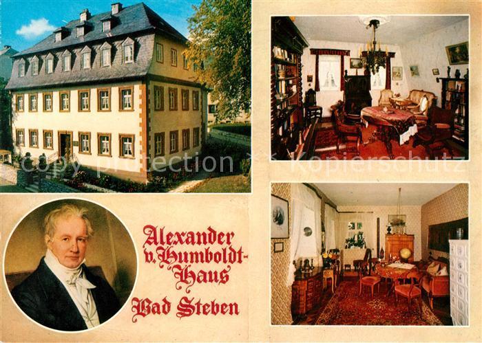 AK / Ansichtskarte Bad Steben Alexander von Humboldt Haus Portrait Gaestezimmer Kat. Bad Steben
